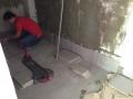 Mock Up Type B2 - Toilet Floor Tiling in progress